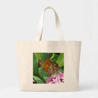Passion Vine Butterfly Large Tote Bag