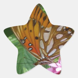 Passion Vine Butterfly Star Sticker