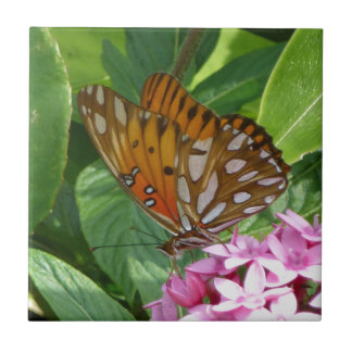 Passion Vine Butterfly Tile
