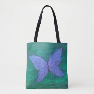 Passionate Chic Butterfly Purple Green Baby Diaper Tote Bag