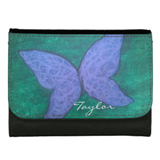 Passionate Fashion | Name Purple Butterfly Green Wallet