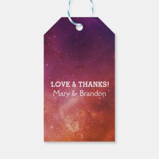 Passionate Love Universe Nebula Wedding Gift Tags