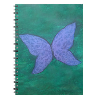 Passionate Office | Purple Blue Butterfly Green Notebook