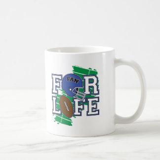 Passioné du football bleu-foncé tasses à café