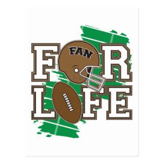 Passioné du football Brown Carte Postale