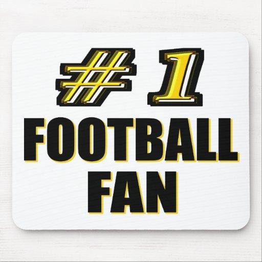 Passioné du football du numéro un tapis de souris