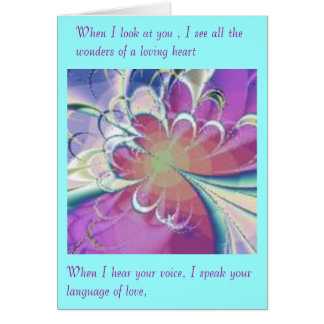 Passion's Voice Card