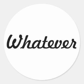 Passive-Aggressive Classic Round Sticker