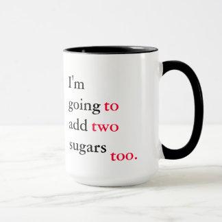 Passive aggressive grammar mugs
