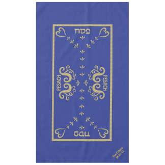 "Passover 60/104 Tablecloth ""Passover Gold Elegant"""