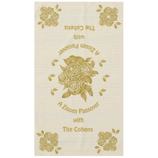 "Passover 60/104"" Tablecloth ""Personalized Seder"""