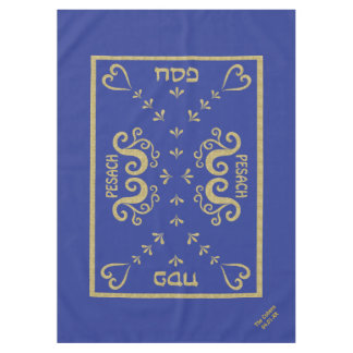 "Passover 60/84"" Tablecloth ""Passover Gold Elegant"""
