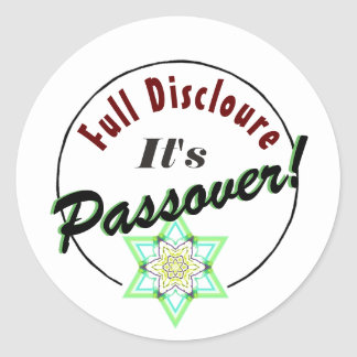 Passover Bitter Herbs Full Disclosure Classic Round Sticker
