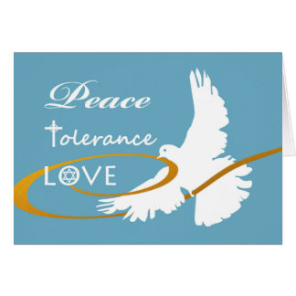 Passover Dove, Peace, Tolerance, and Love, Unity Card