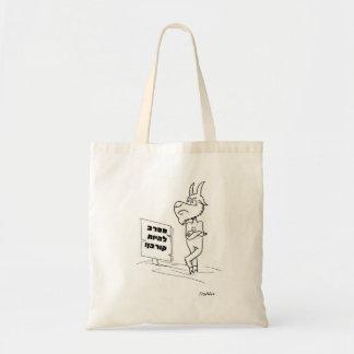 Passover Funny tote bag with Had Gadya goat