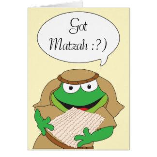 "Passover Greeting Card ""Got Matzah"""
