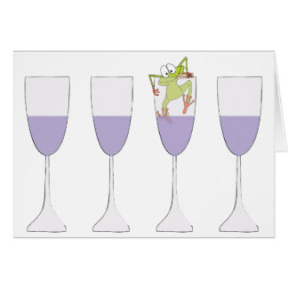 """Passover Greeting Card """"Passover the Wine"""""""