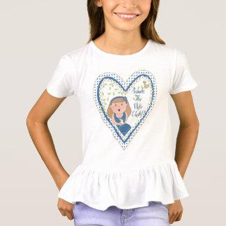 """Passover """"Heart Wise Child""""  Girls' Ruffle T-Shirt"""