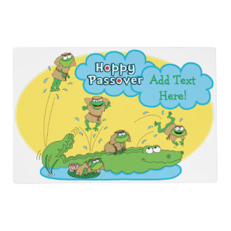 Passover Laminated Activity Placemat Kids-2 sided Laminated Placemat
