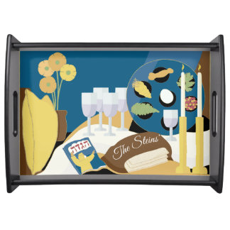 "Passover Large Serving Tray ""A Passover Seder"""