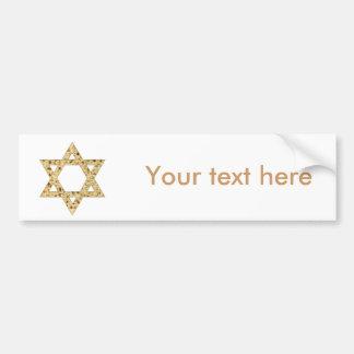 Passover Matzoh Star of David Bumper Sticker