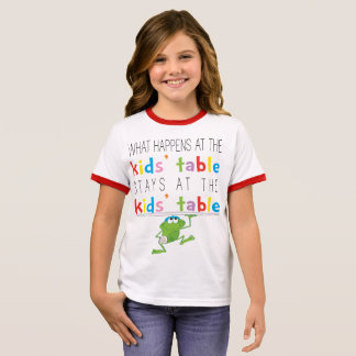 "Passover ""Passover Kids' Table"" Girl's T-Shirt"