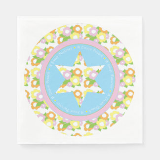 "Passover Standard Napkins ""Pastel Flowers"" Design Disposable Napkin"