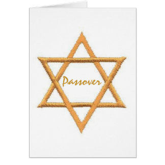 Passover Star of David Card