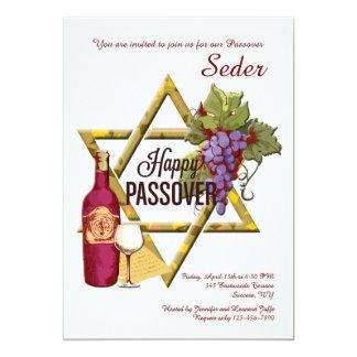 Passover Star of David Invitation