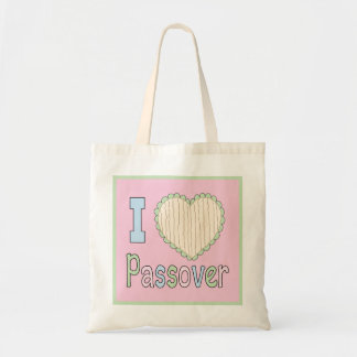 """Passover Tote Bag """"I Love Passover"""""""