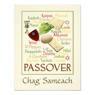 Passover Words Card