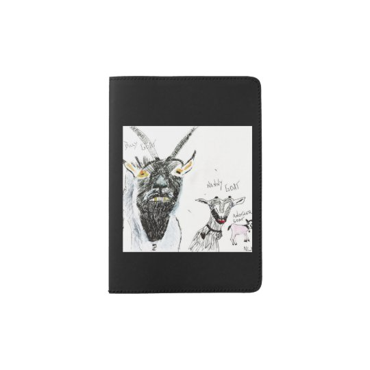 Passport holder with Goat Art