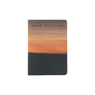 Passport Holder with Sunset Design