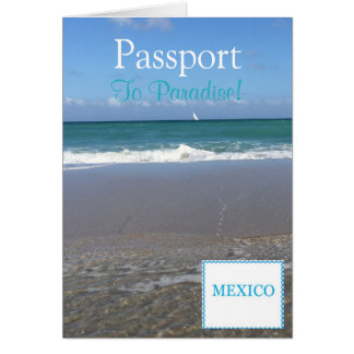 "Passport Invitation Card|5.6"" x 4"