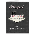 Passport Invitation or Save-the-Date LAS VEGAS Greeting Cards