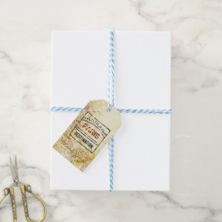 Passport Map Gift Tags