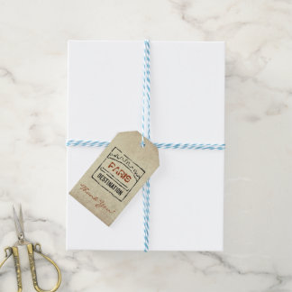 Passport Stamp Gift Tags Pack Of Gift Tags