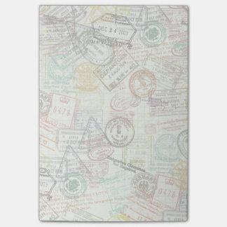 Passport Stamp Print Post-It Note