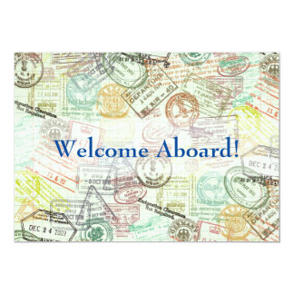 Passport stamp Travel Invitation Card-Thank you