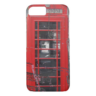 passport stamps London Red Telephone Booth iPhone 8/7 Case