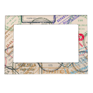 Passport Stamps Travel Magnetic Picture Frame