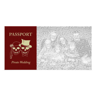 passport to a pirate wedding photo greeting card
