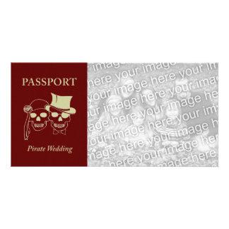 passport to a pirate wedding photo greeting card