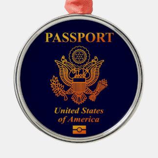 PASSPORT (USA) METAL ORNAMENT