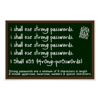 Passwords Information Security Awareness Poster