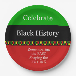 Past And Future BHM Party Paper Plates