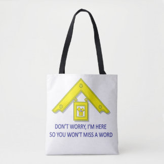 PAST MASTERS DON'T MISS A WORD TOTE BAG