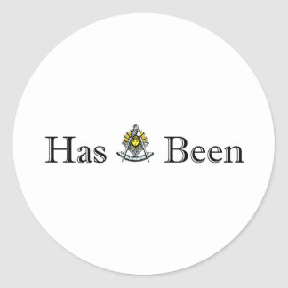 Past Masters Round Sticker