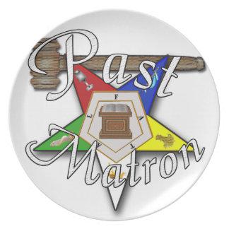 Past Matron Appreciation Plate