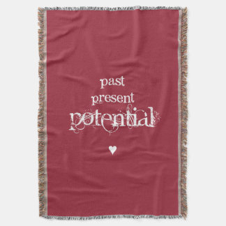 """Past, Present, Potential"" Woven Throw Blanket"